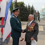 Поздравление  ветерана войны  Сараева А.В.